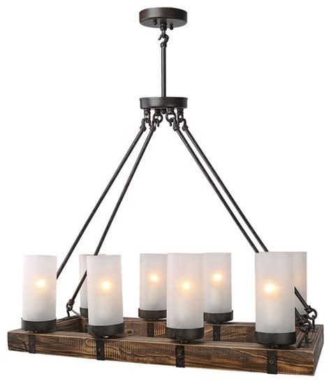 stark 8 light pendant rustic kitchen island lighting