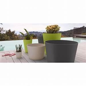 Tres Grand Pot De Fleur Exterieur : grosfillex pot de fleurs anthracite tokyo 50 cm 40 l ~ Dailycaller-alerts.com Idées de Décoration