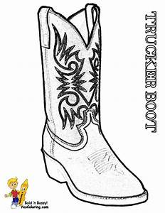 Free Coloring Pages Of New Cowboy Boots 6730 ...