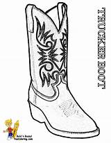 Coloring Cowboy Boots Boot Trucks Sheets Template Stone Yescoloring Sheet Sketch Boys sketch template