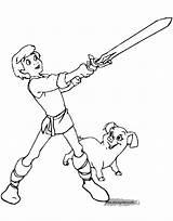 Coloring Pages Cauldron Printable Disneyclips Taran Disney Princess Eilonwy Henwen Gurgi Orwen Funstuff sketch template