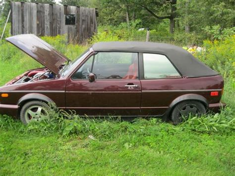 purchase used 1991 volkswagen cabriolet base convertible 2 door 1 8l in mchenry maryland
