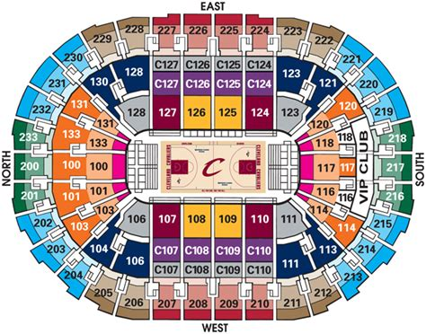Cavs Floor Seat Viewer by Cleveland Cavaliers Seating Chart