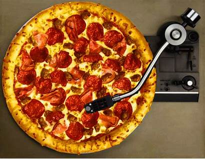 Pizza Record Player Gifs Trippy Vinyl Animated
