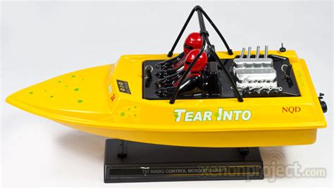 Aeroboat Water Jet Rc Boat by Nqd Aeroboat Yellow
