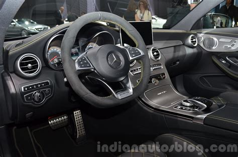 And the most powerful modification among. Mercedes AMG C63 Coupe Edition 1 interior at the IAA 2015