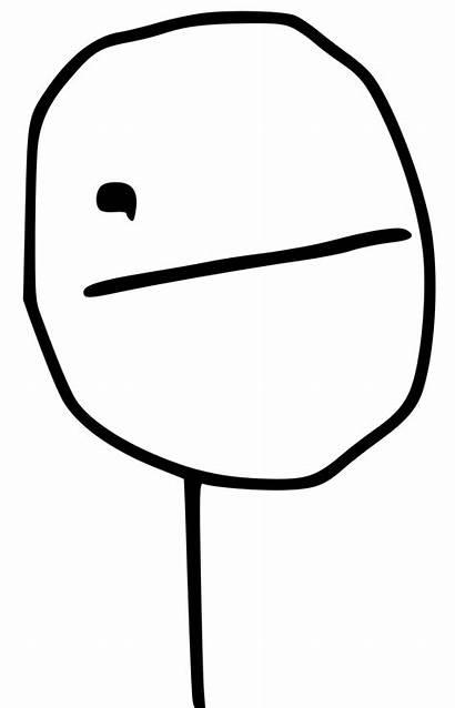 Poker Meme Face Clip Domain Drawing Publicdomainfiles