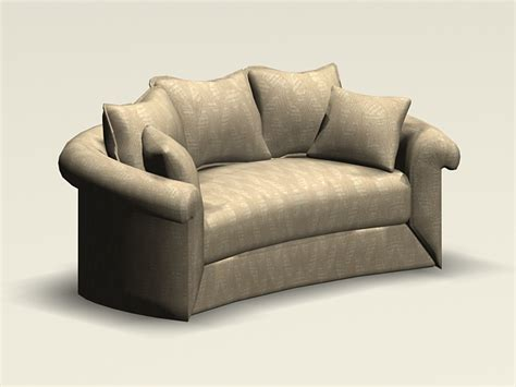what is a settee curved loveseat 3d model 3ds max autocad files free