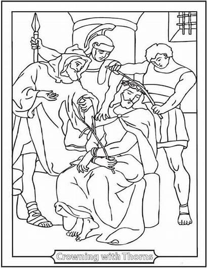 Coloring Pages Friday Crown Jesus Thorns Christ