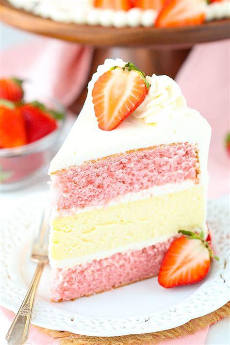 strawberries  cream cheesecake cake life love  sugar
