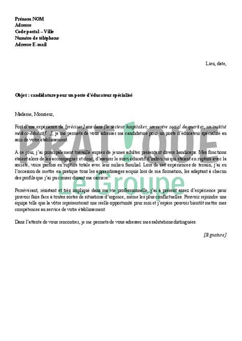 emploi cuisine suisse lettre de motivation pour un emploi d 39 éducateur spécialisé
