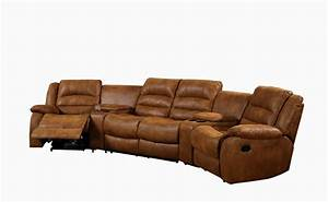 Curved sofa furniture reviews curved leather sofa recliner for Sectional sofas with 4 recliners
