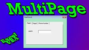 Multipage Add Tabs, Move or Delete Tabs, Change Tab
