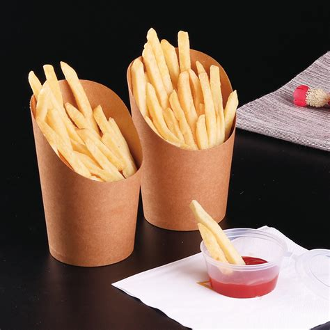 popcorn chicken fries french dessert wings kraft cup box paper 12oz storage disposable 100pcs fried