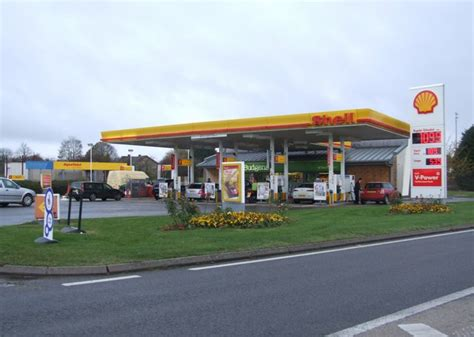 Fileshell Petrol Station On The A5 Near Paulerspury