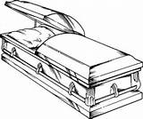 Coffin Drawing Clipart Clip Cliparts Casket Drawings Definition Library Language Merriam sketch template