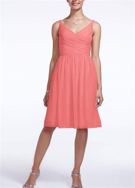 davids bridal bridesmaid dress colors davids bridal coral style f15603 chiffon dress