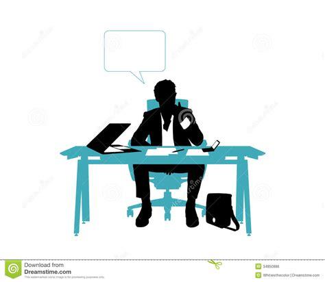 bureau homme d affaire pensée d 39 homme d 39 affaires posée dans bureau image