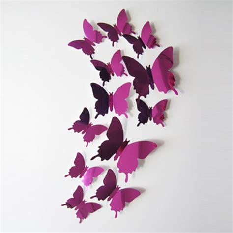 3d schmetterlinge wanddeko 3d wanddeko schmetterlinge lila