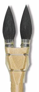 Luco double squirrel round brushes blick art materials for Luco lettering brushes
