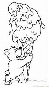 Coloring Ice Cream Bear Pages Teddy Desserts Para Dessert Printable Helados Colorear Pintar Sweet Helado Paginas Clip Fruits Coloringpages101 Supercoloring sketch template