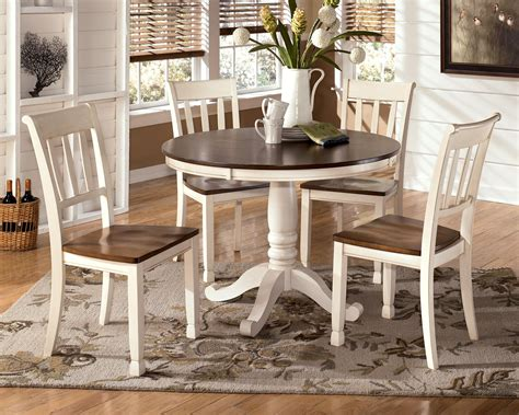 ashley furniture dining tables and chairs signature design by ashley whitesburg 5 piece two tone