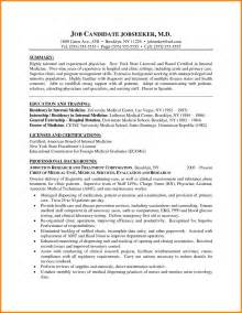 curriculum vitae format sle doctor 5 cv exapmle doctor cashier resumes