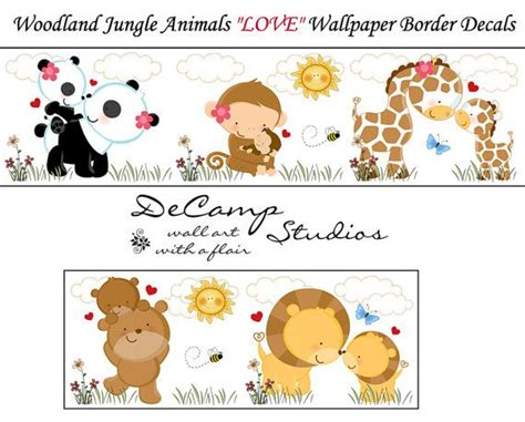 Baby Jungle Animals Wallpaper Border - woodland jungle animals wallpaper border wall decals