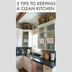 5 Tips To Keeping A Clean Kitchen