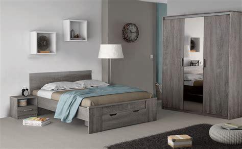 photo chambre chambre adulte complète contemporaine chêne prata