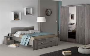 chambre adulte complete contemporaine chene prata With conforama chambre complete adulte