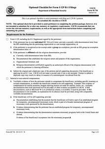 uscis form m 736 optional checklist for form i 129 r 1 With document checklist uscis