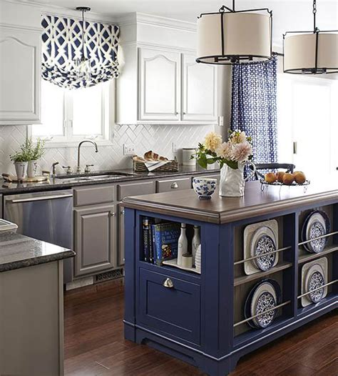 pictures of kitchen islands in small kitchens colorful kitchen islands 9725