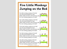 monkeys jumping on the bed song 28 images 5 little