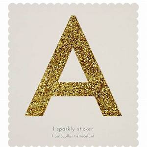 giant gold sparkle letter stickers by letteroom With giant letter stickers