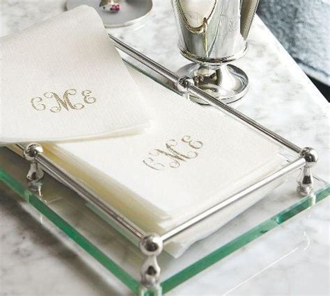 personalized linen  disposable guest towels linea luxe