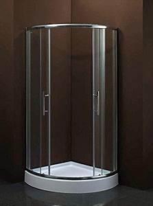 Duschkabine Mit Duschtasse : luxus4home duschkabine mit duschtasse 90 x 90 x 195 cm rund dusche schiebet r sicherheitsglas ~ Frokenaadalensverden.com Haus und Dekorationen