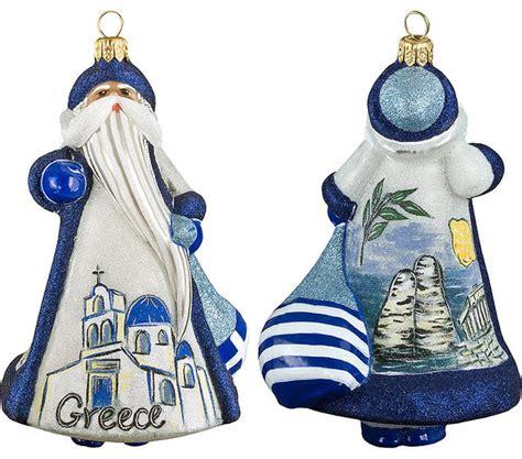 glitterazzi international greece santa ornament