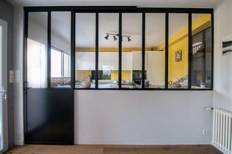 cloison cuisine cloison vitre cuisine construire une verrire style