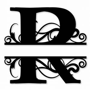 monogram letter die cut vinyl decal pv1320 snc split With silhouette letter cutter