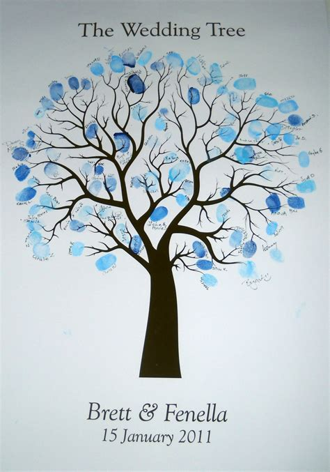 fingerprint tree fingerprint guestbook tree wedding or event design wedding event stationery felt