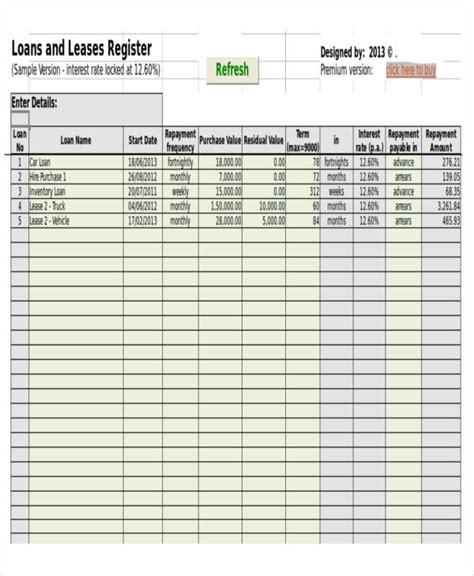 amortization schedule templates  premium templates