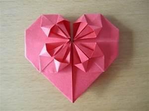 Herz Aus Papier Basteln : herz aus papier falten origami einfach und sch n ~ Lizthompson.info Haus und Dekorationen