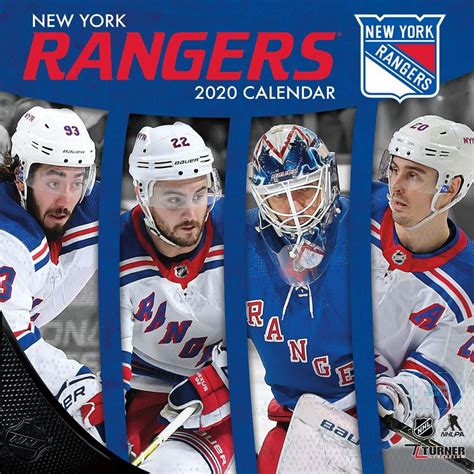 nhl york rangers mini wall calendar