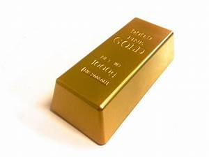 Replica Gold Bar Prop - Hollow - Ronjo Magic, Costumes and