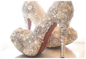 shoe wedding sparkly cinderella wedding shoes