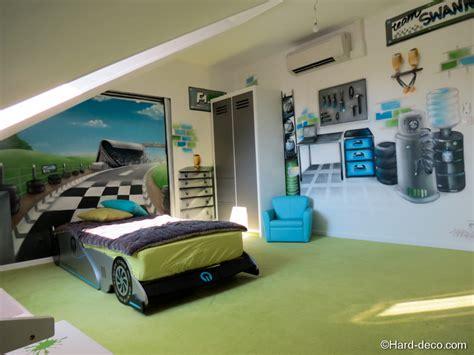 theme deco chambre chambre grise et verte
