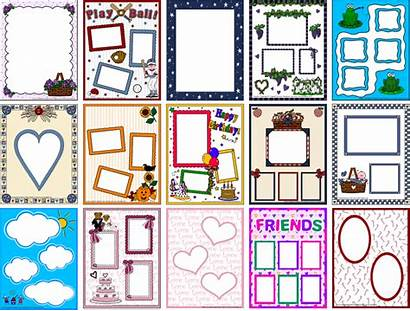 Scrapbooking Frame Scrapbook Clipart Pages Fun Clear