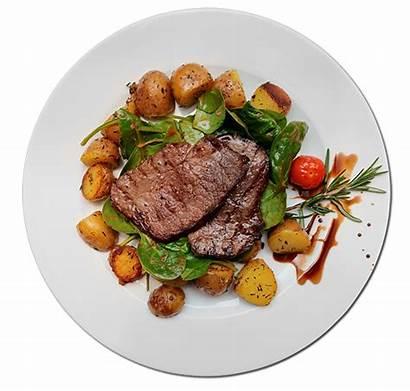 Plate Steak Transparent Healthy Meat Clipart Cuisine