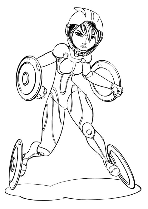big hero  coloring pages    print